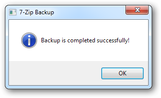 Backup is completed successfully!