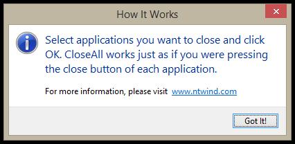 CloseAll v2.0 - Help