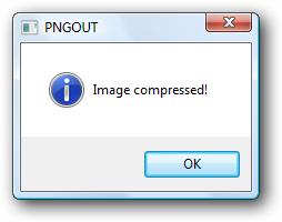PNGOUT message