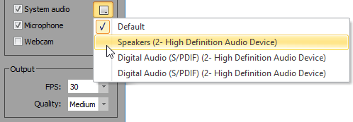 WinCam - Audio Devices