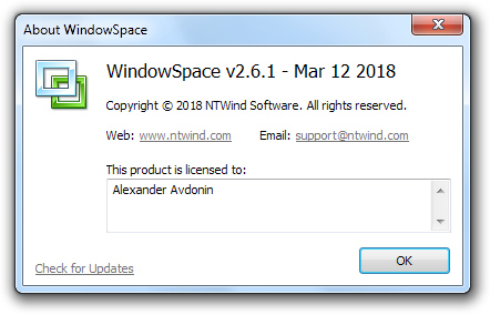WindowSpace - About