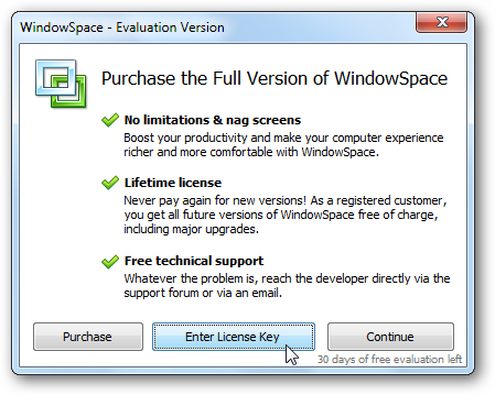 WindowSpace - Trial Reminder