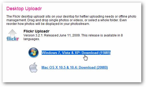 Flickr Uploadr - Download Page