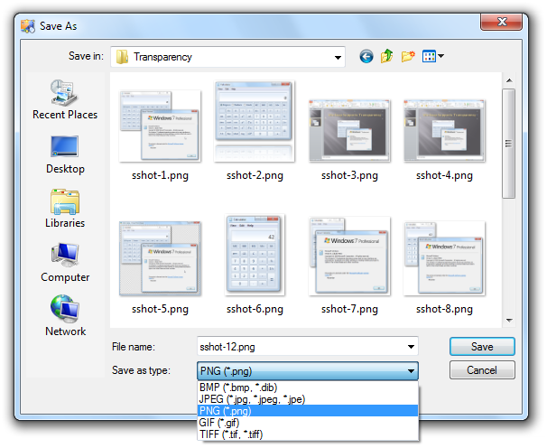 WinSnap - Image Formats