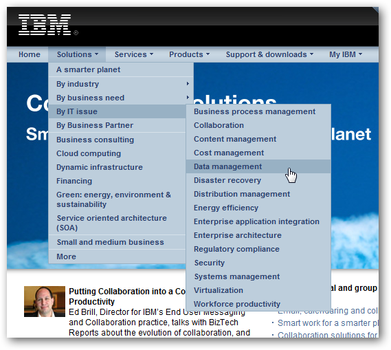 Website Menu - IBM.com