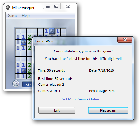 Minesweeper Screenshot without Transparency