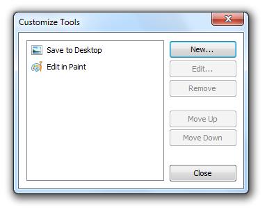 WinSnap - Customize Dialog