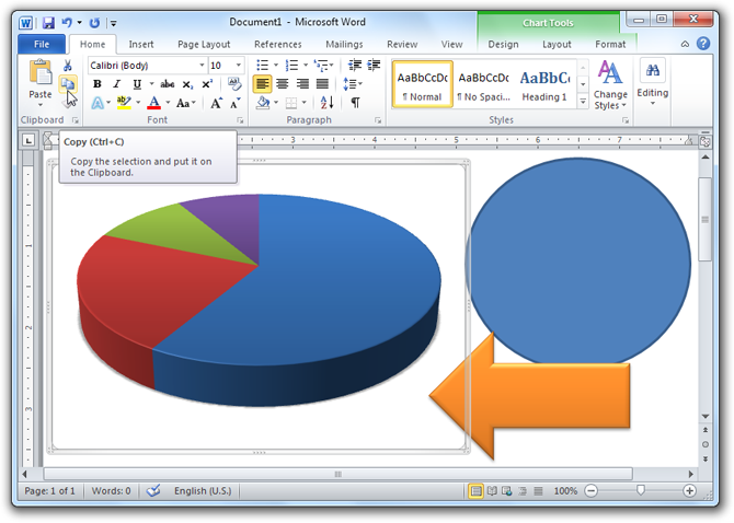 Word 2010 - Copy Objects and Charts