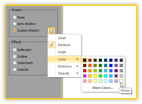 WinSnap 4.5 - Shadow Color