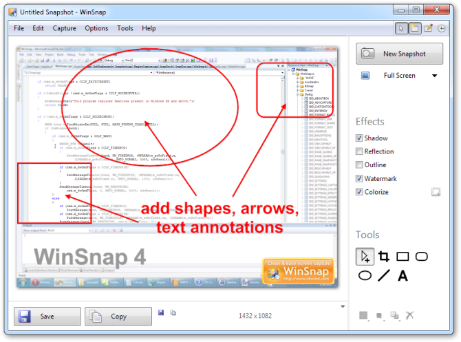 Click to view WinSnap 4.0.5 screenshot